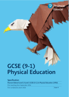 Edexcel GCSE Physical Education 2016 specification